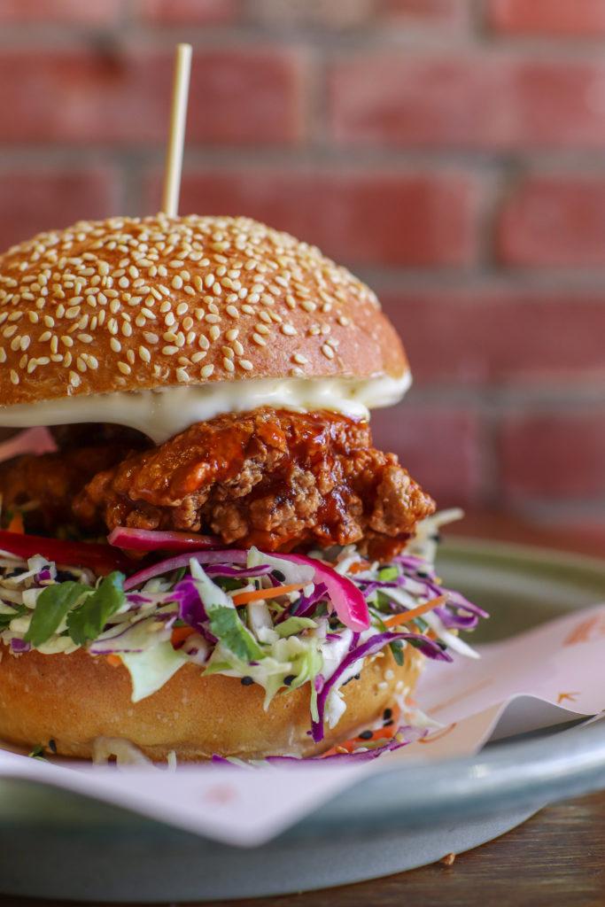 Bird on a Wire Katsu chicken burger
