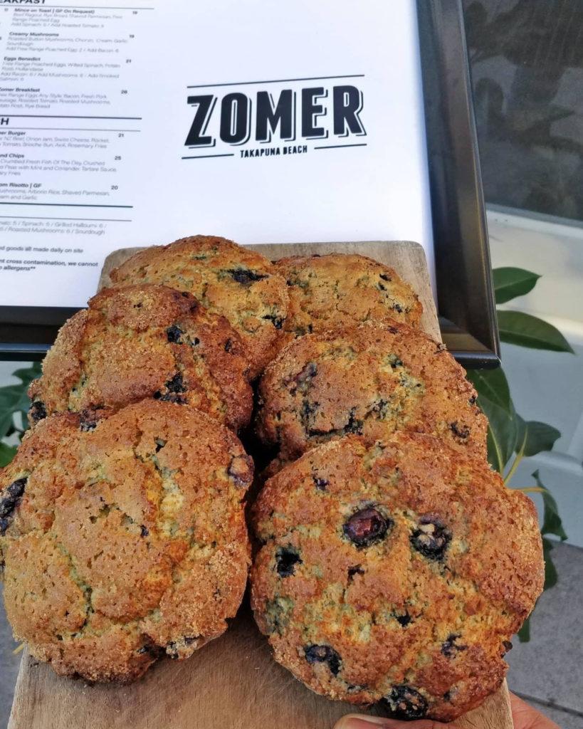 Zomer Cafe's Blueberry Scones