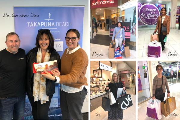 Shop and Win winners - Diana, Marjorie, Piyathi, Tara and Christina.